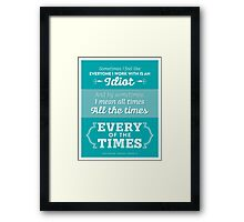 The Office Dunder Mifflin - Kevin Malone - Every of the Times Framed Print