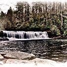 Hooker Falls, NC High Key HDR by MKWhite