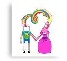 Adventure Time - Finn and Bubblegum in Love Canvas Print