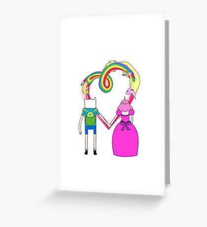 Adventure Time - Finn and Bubblegum in Love Greeting Card