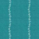 Maidenhair Fern Stripe on Teal Linen by ThistleandFox