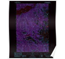 USGS Topo Map Washington State WA Bacon Peak 239891 1989 24000 Inverted Poster