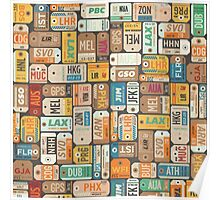 Luggage Tags Retro Poster