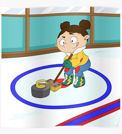 Winter Sports: Curling Poster