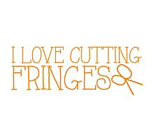 I LOVE CUTTING FRINGES Photographic Print