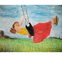 Girl on a swing Photographic Print