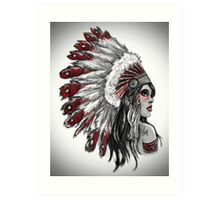 Red Indian - Color  Art Print