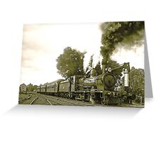 Engine 2705 at Thirlmere Greeting Card