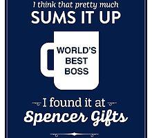 The Office Dunder Mifflin - World's Best Boss by noondaydesign