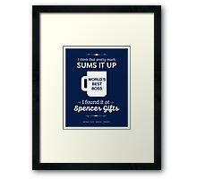 The Office Dunder Mifflin - World's Best Boss Framed Print
