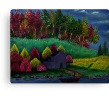 Oil painting on canvas - Landscape Canvas Print