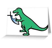 T-Rex And Religion Greeting Card
