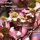 Dogwood Blossoms~Jeremiah 29:11 by franticflagwave