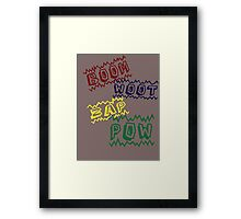 Action Words Framed Print