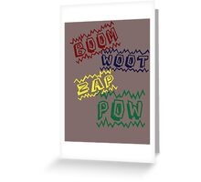 Action Words Greeting Card