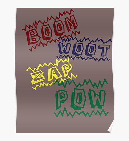 Action Words Poster