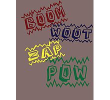 Action Words Photographic Print