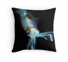 Squid at night lembeh strait Throw Pillow