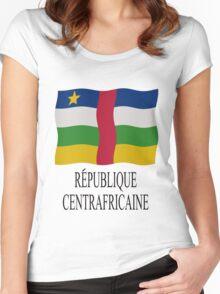 République Centrafricaine Women's Fitted Scoop T-Shirt