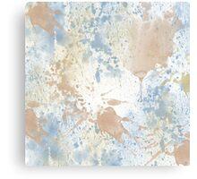 Peach Blue Watercolor Canvas Print
