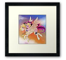Yu-Gi-Oh!+My little pony sunset Framed Print