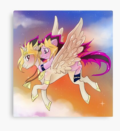 Yu-Gi-Oh!+My little pony sunset Canvas Print