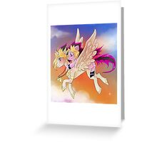 Yu-Gi-Oh!+My little pony sunset Greeting Card