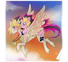 Yu-Gi-Oh!+My little pony sunset Poster