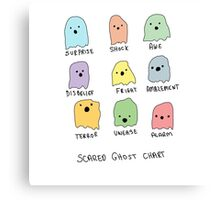 Scared Ghost Chart Canvas Print