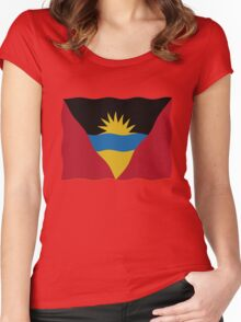 Flag Antigua and Barbuda Women's Fitted Scoop T-Shirt