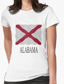 Alabama flag Womens Fitted T-Shirt