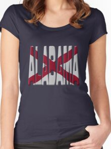 Alabama flag Women's Fitted Scoop T-Shirt