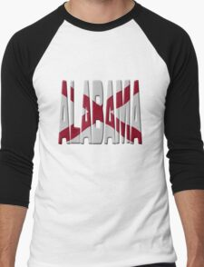 Alabama flag Men's Baseball ¾ T-Shirt