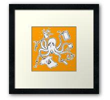Screen Print Octopus Framed Print