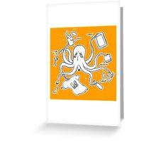 Screen Print Octopus Greeting Card