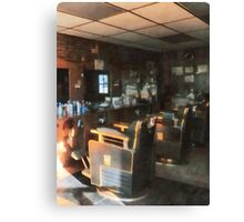 Barber Shop With Sun Shining Through Window Canvas Print
