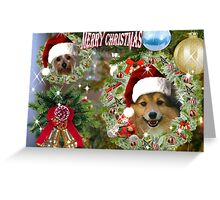 Doggy Christmas card Greeting Card
