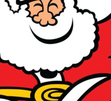 Santa Claus Jumping out of Joy Sticker