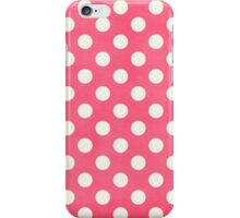Polka Dots on Hot Pink iPhone Case/Skin