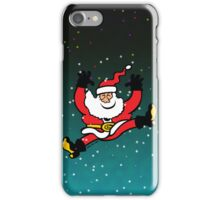 Santa Claus Jumping out of Joy iPhone Case/Skin