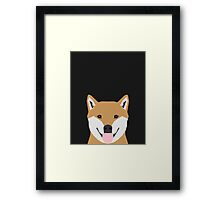 Indiana - Shiba Inu gift design for dog lovers and dog people Framed Print