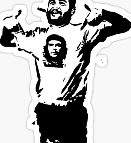Che wearing Che Sticker