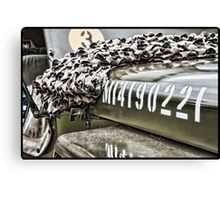 Army Jeep Canvas Print