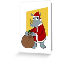 Christmas Rhinoceros  Greeting Card