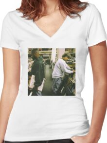 DJ Shadow Endtroducing Women's Fitted V-Neck T-Shirt