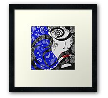 The Paisley Woman (blue) Framed Print