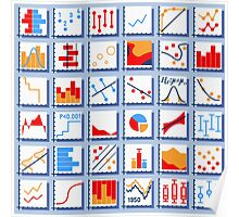 Stats Element Set in Various Colors Poster