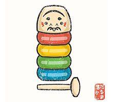 DarumaOtoshi [Special Lucky Toy Box] Photographic Print