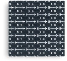 Chalkboard Black and White Tribal Arrow Pattern Canvas Print