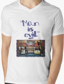 "Community ""Man is Evil""  Mens V-Neck T-Shirt"